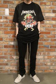 Black Metallica Rock T-Shirts Type 2<br>블랙컬러, 메탈리카 프린팅<br>락밴드 프린팅이 매력적인 티셔츠