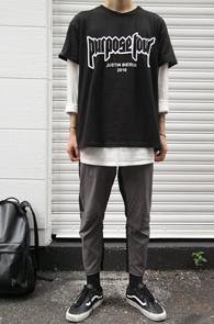 Bieber Purpose Tour T-Shitrs<br>레터링 포인트, 프린팅 디테일<br>스트릿한 느낌의 프린팅 티셔츠
