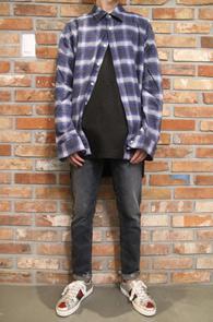 Blue Check Wool Shirts<br>블루패턴의 울 소재<br>두툼한 두깨감의 베이직한 체크셔츠