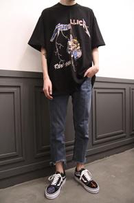 Metallica Mix T-Shirts Type 1<br>두가지 프린팅이 믹스된 디자인<br>빈티지한 느낌의 메탈리카 티셔츠