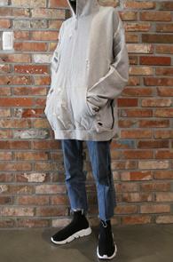 Grey Vintage Tape Hood T-Shirts<br>그레이컬러,데미지 가공 디테일<br>박시한 핏감의 테이프 후드 티셔츠