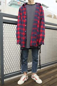 2 Color Over Fit Check Shirts<br>레드체크와 그린체크 두가지 컬러<br>박시한 핏감의 오버핏 체크셔츠