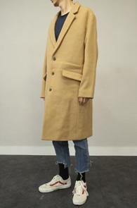 Beige Wool Single Coat<Br>베이직한 디자인, 베이지 컬러<br>울소재의 깔끔한 싱글코트
