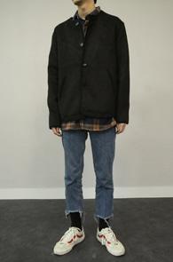 Black Wool Caridigan Jacket<br>블랙컬러, 모직소재<br>유니크한 디자인의 버튼 가디건