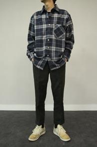 2 Color Wool Check Shirts<Br>네이비패턴과 베이지 패턴 두가지 컬러<br>모직소재로 제작된 체크셔츠