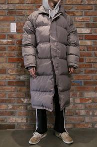 Grey Long Down Padding Jumper<br>그레이컬러, 볼솜 충전재<br>한겨울철 착용 가능한 롱패딩