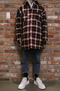 Check Over Fit Shirts Jacket Type2<br>체크컬러, 누빔 안감<br>자켓처럼 착용가능한 오버핏의 셔츠