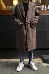 Glen Check 3 Button Single Coat<br>글랜체크패턴, 싱글 디자인<br>포멀한 디자인의 싱글코트