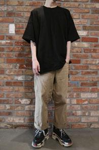 crew neck t-shirts<br>피그먼트 가공된 크루넥 티셔츠<br>3컬러 박시한 오버사이징 티셔츠