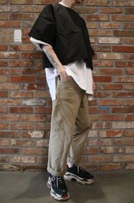crop nylon t-shirts<br>크롭 나일론 티셔츠<br>간편한 레이어드 미니멀한 실루엣
